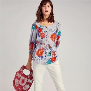 Anthropologie | Maeve Lilorne Floral Button Down